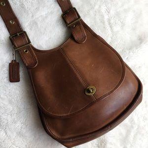 Vintage Coach Legacy Brown Leather Flap Bag NYC